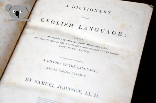 Dr Johnson's Dictionary of the English Language 1765